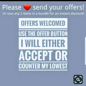 Reasonable offers welcome. ❤️😘👍